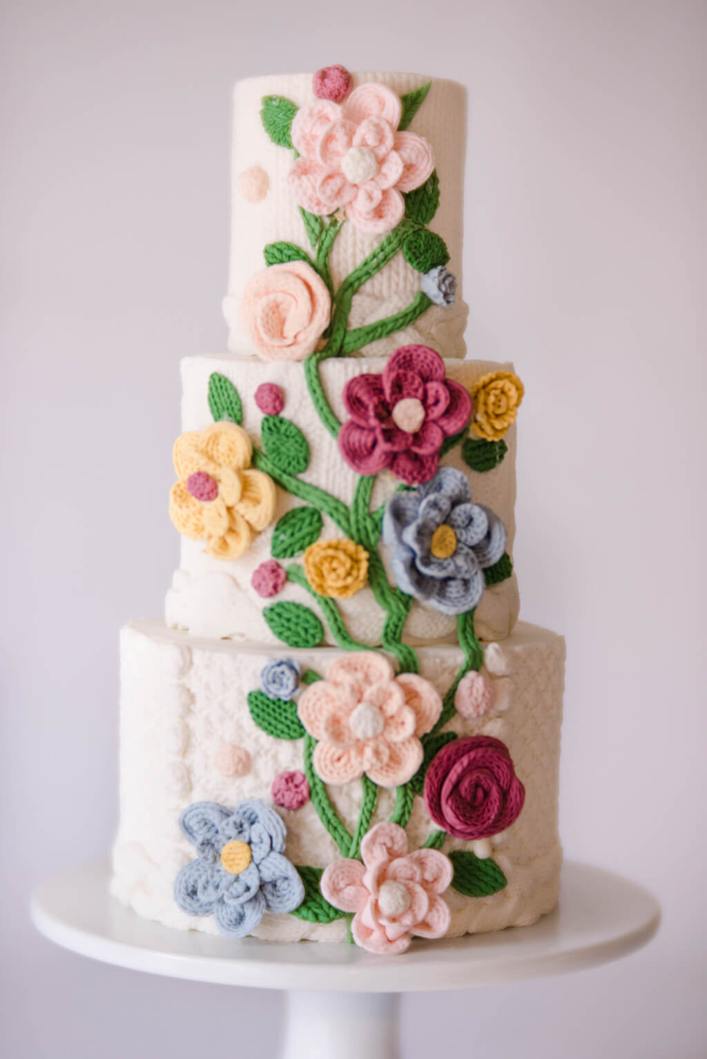 Free Knitting Patterns For Wedding Cakes: Knit effect cakes tutorial ...
