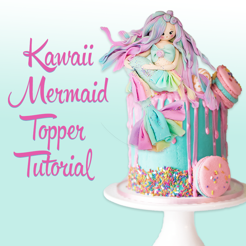 Kawaii Mermaid Topper Tutorial