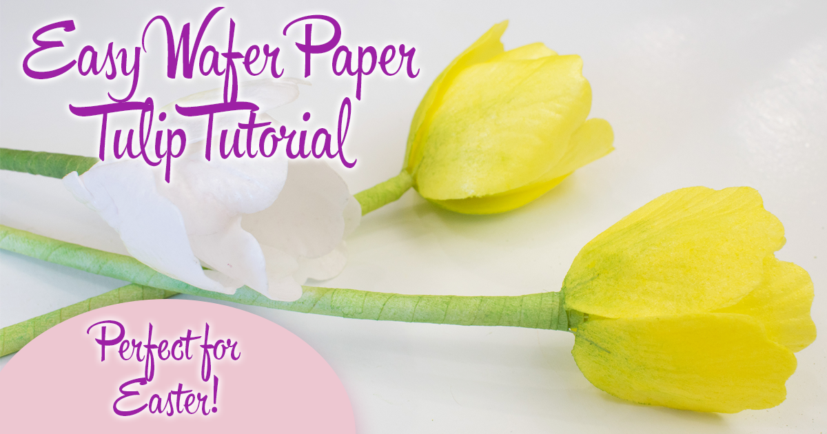 Wafer Paper Tulips