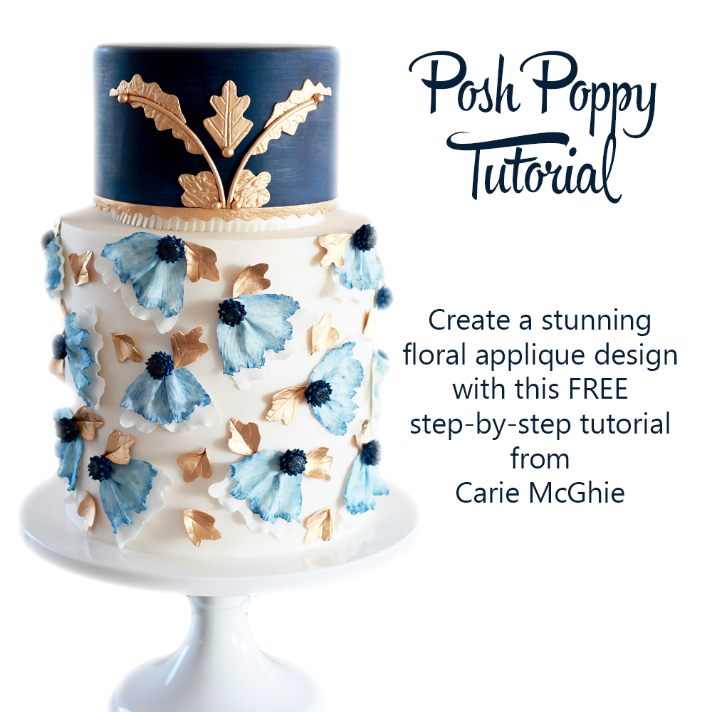 Layered Fondant Applique Tutorial