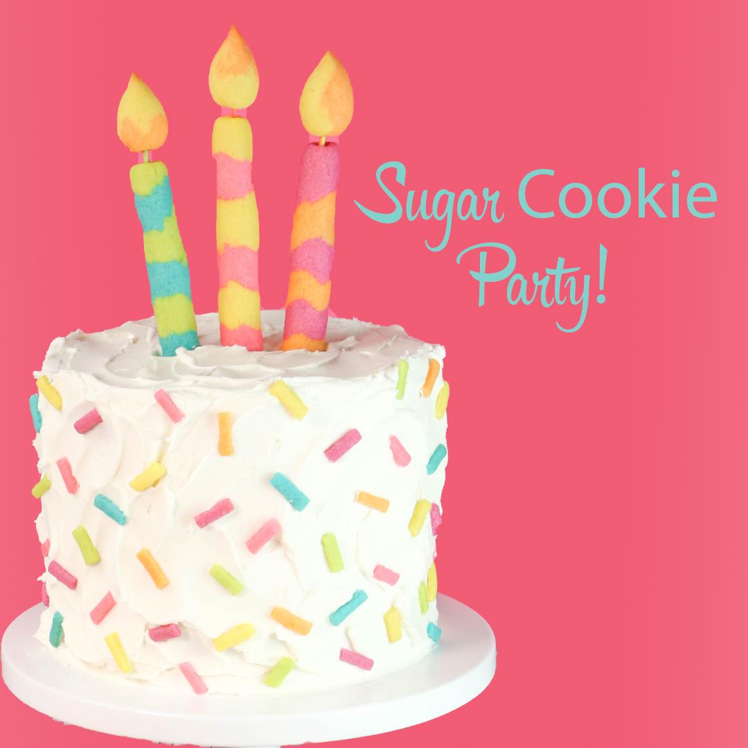 Remarkable Sugar Cookie Party Cookie Sprinkles Tutorial Funny Birthday Cards Online Drosicarndamsfinfo