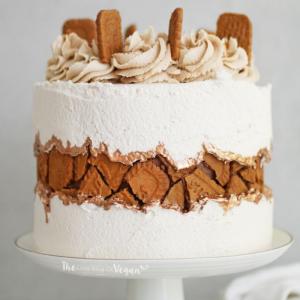 Biscoff Fault-Line Vegan Cake Recipe